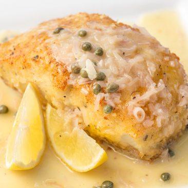 creamy lemon caper fish fillet