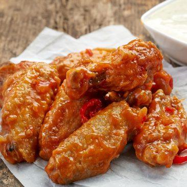 hot cherry chicken wings